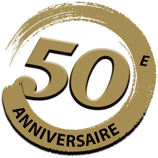 Logo 50e anniversaire Peintures MF