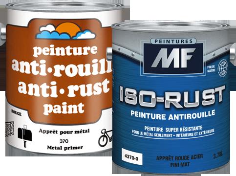 Étiquette gallon de peinture ISO-RUST peinture antirouille