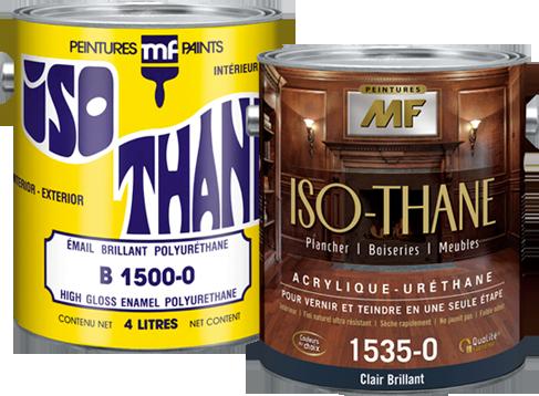 Étiquette gallon de vernis Iso-Thane acrylique uréthane