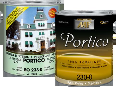 Étiquette gallon Portico peinture acrylique
