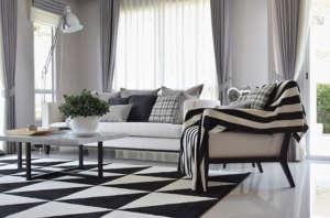 Salon deco carpet