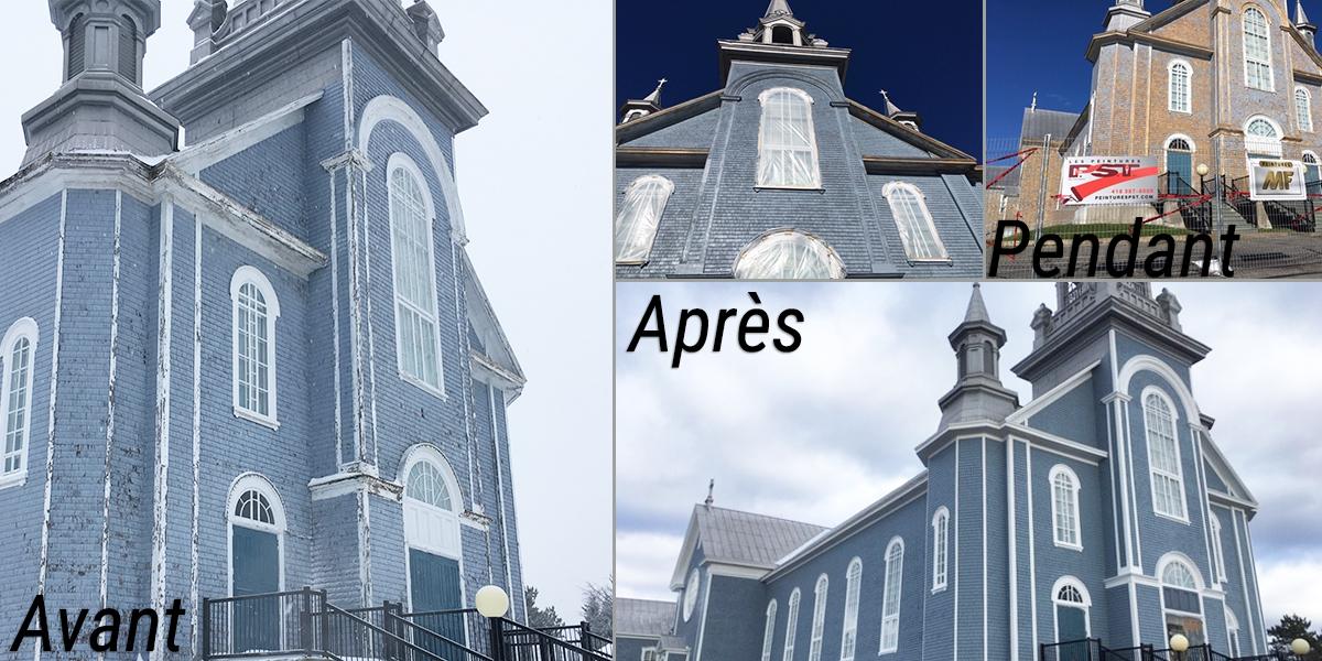 Église de Sainte-Perpétue peinturé avec Peintures MF couleur De bon goût (0505)
