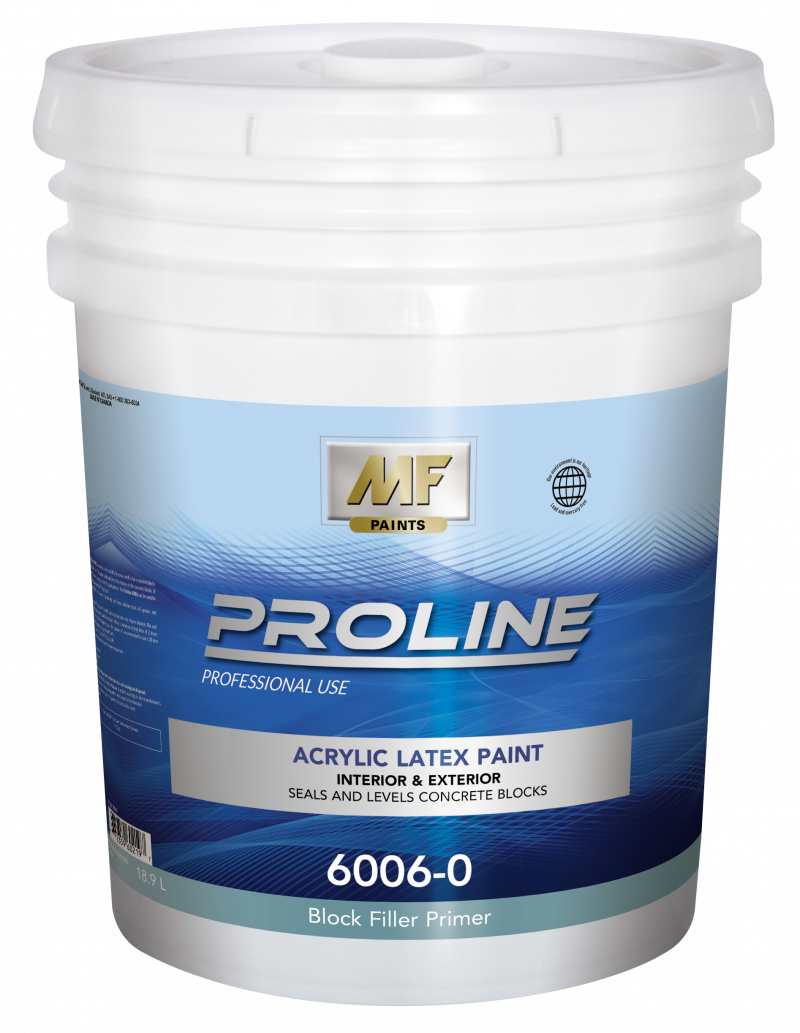 Acrylic Latex High Build Block Filler For New Or Bare Concrete Blocks Indoor And Exterior Use
