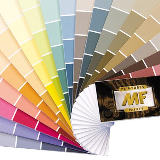 Plus de 1300 couleurs chez peintures mf - Palette de couleur pour cuisine ...