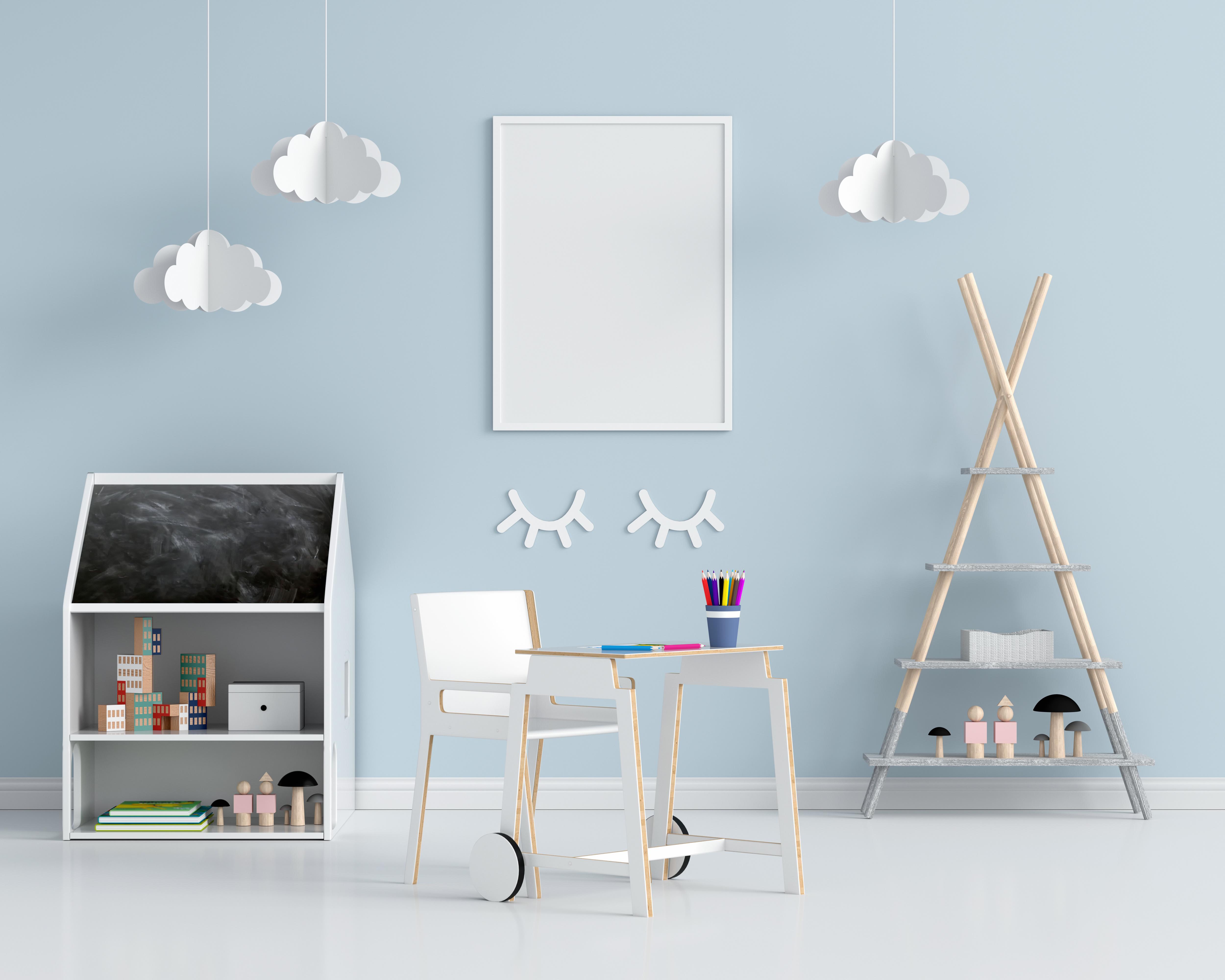 Chambre d'enfant bleu pâle